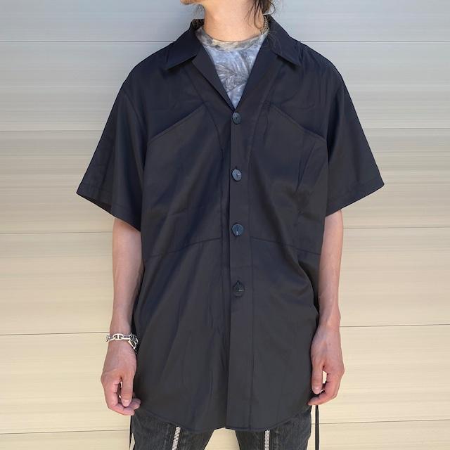 【UNISEX - 1 size】SLIT SHORTSLEEVE SHIRT / Black