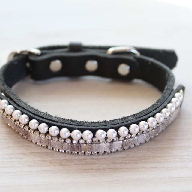 """WanDelen""Dog Necklace (stripe black)"
