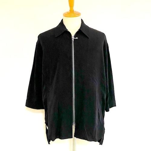 Bamboo Zip Long Shirt Black