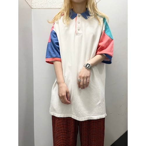 90's Cotton Traders クレイジーパターンポロシャツ