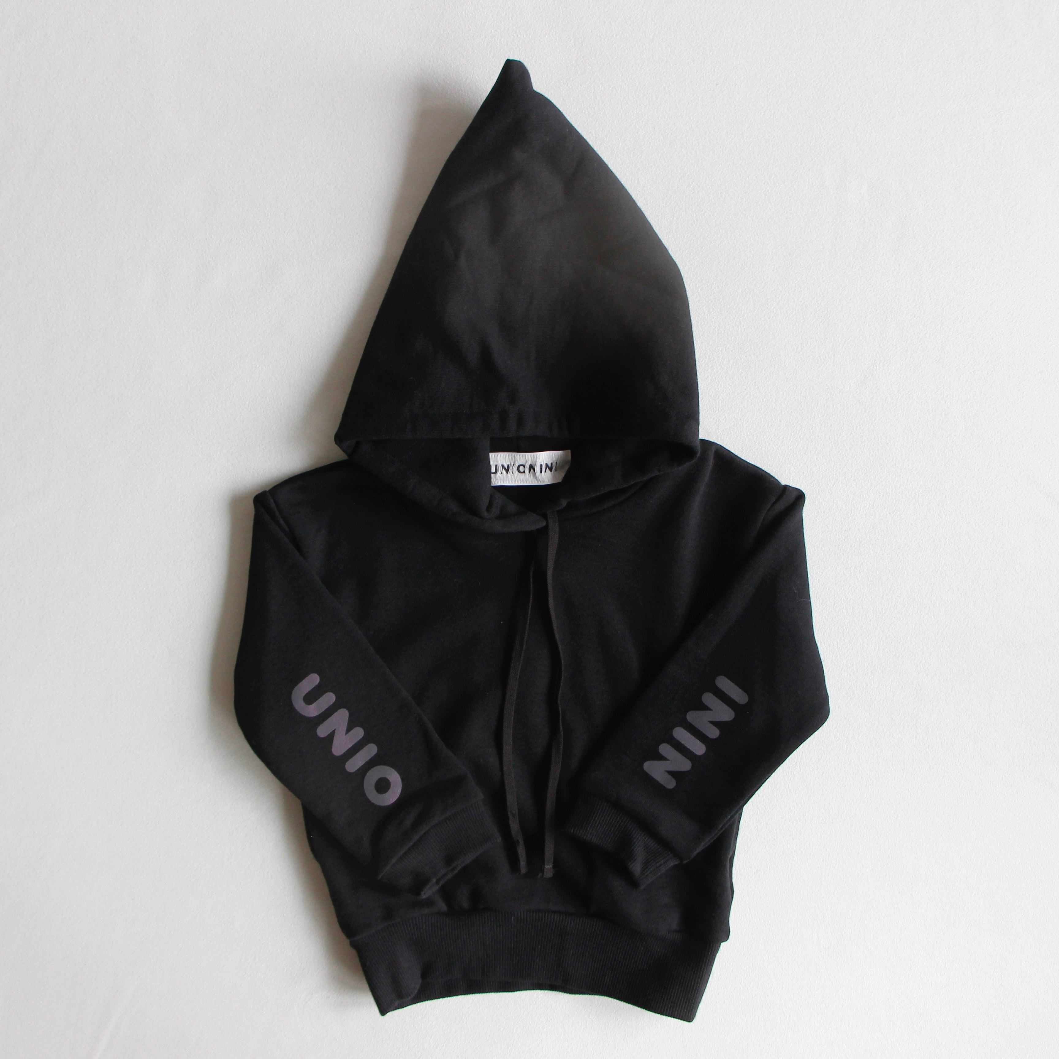 《UNIONINI 2021AW》reflect logo hoodie / black