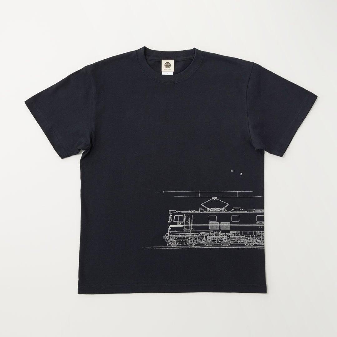 鉄道Tシャツ EF58-61 ( Dark Navy × Silver )