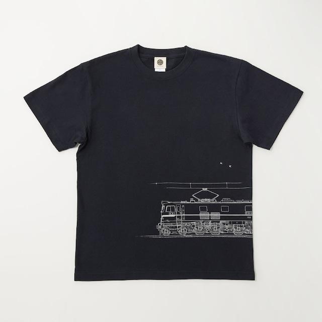 鉄道Tシャツ|EF58-61 ( Dark Navy × Silver )