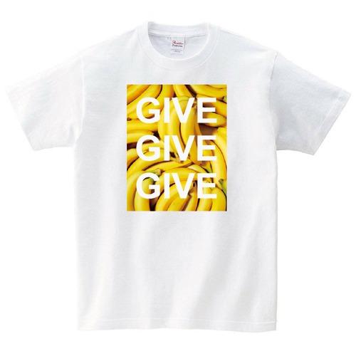 バナナ Tシャツ メンズ レディース 半袖 食べ物 ゆったり おしゃれ トップス 白 30代 40代 ペアルック プレゼント 大きいサイズ 綿100% 160 S M L XL