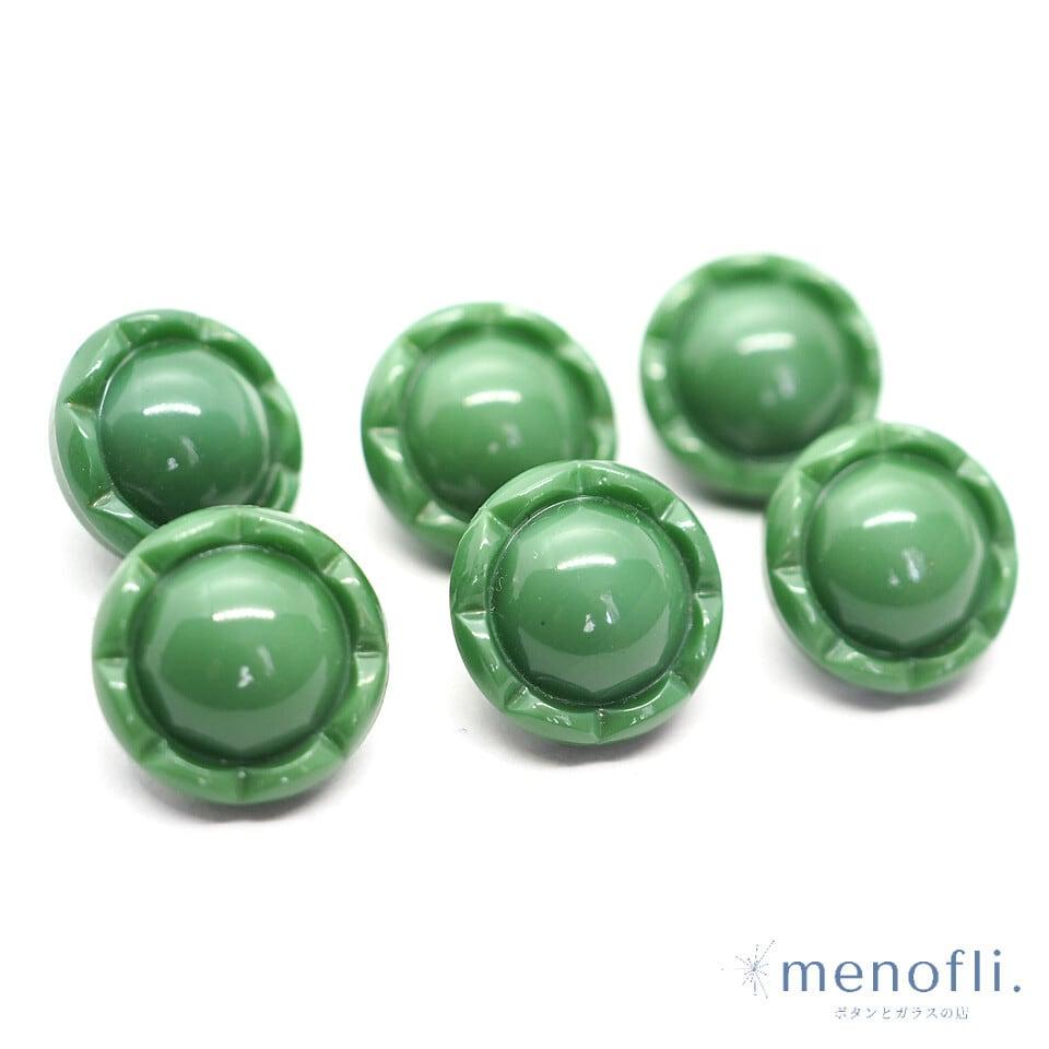 緑 ヴィンテージボタン チェコガラスボタン BP0315 20210536