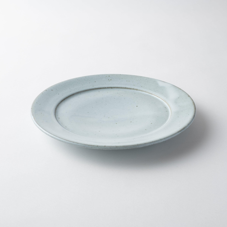 【瀬戸焼】朝食セット皿「ホワイトスモーク 22.0リムプレート」
