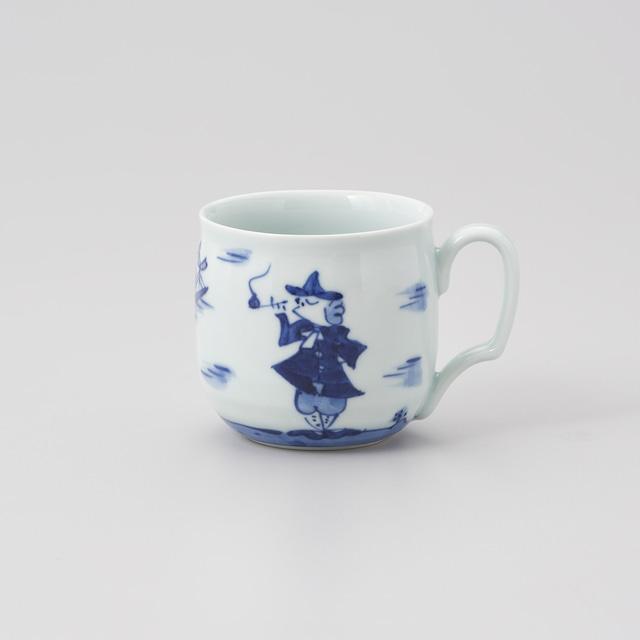 """【青花】""""二人異人"""" フリーマグカップ"""