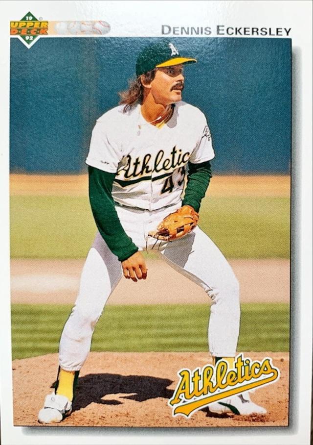 MLBカード 92UPPERDECK Dennis Eckersley #331 ATHLETICS