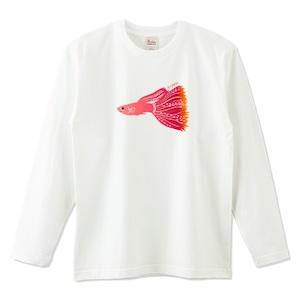 グッピー(レッドグラス) / 5.6オンスロングTシャツ (Printstar)