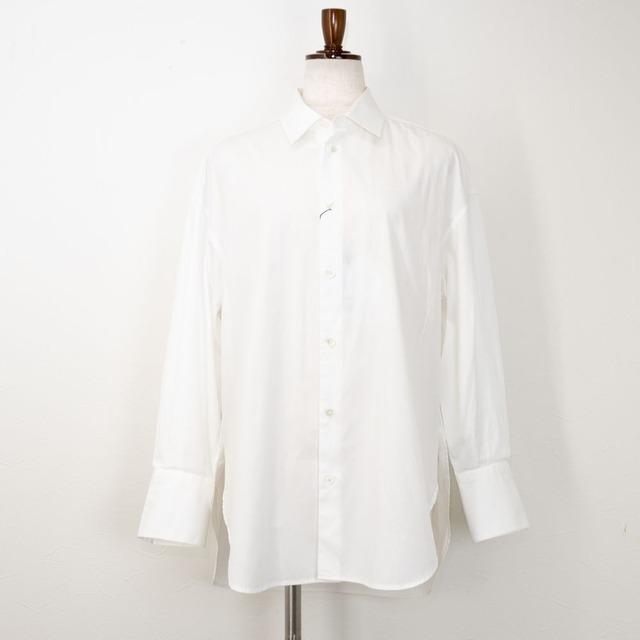 【MACPHEE/マカフィー】ファインコットンサイドオープンシャツ(ホワイト)