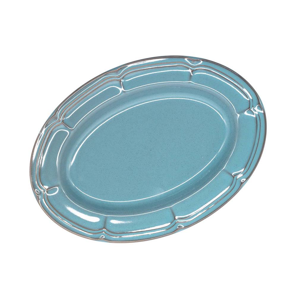 Koyo ラフィネ オーバルプラター 皿 約25×18cm アンティークブルー 15987048