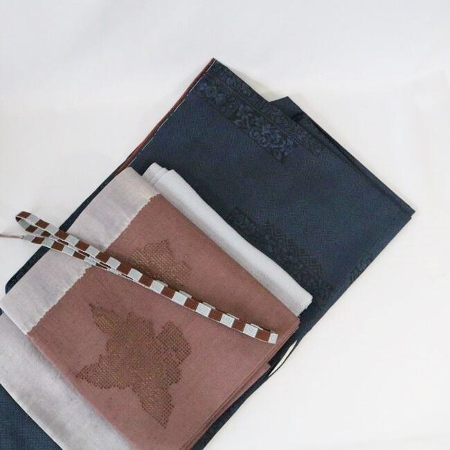 【O様ご予約品】濃紺の紬に合わせる帯+小物コーデセット