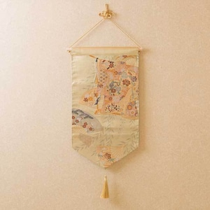 帯タペストリー 袋帯 金・扇・御簾紋様2