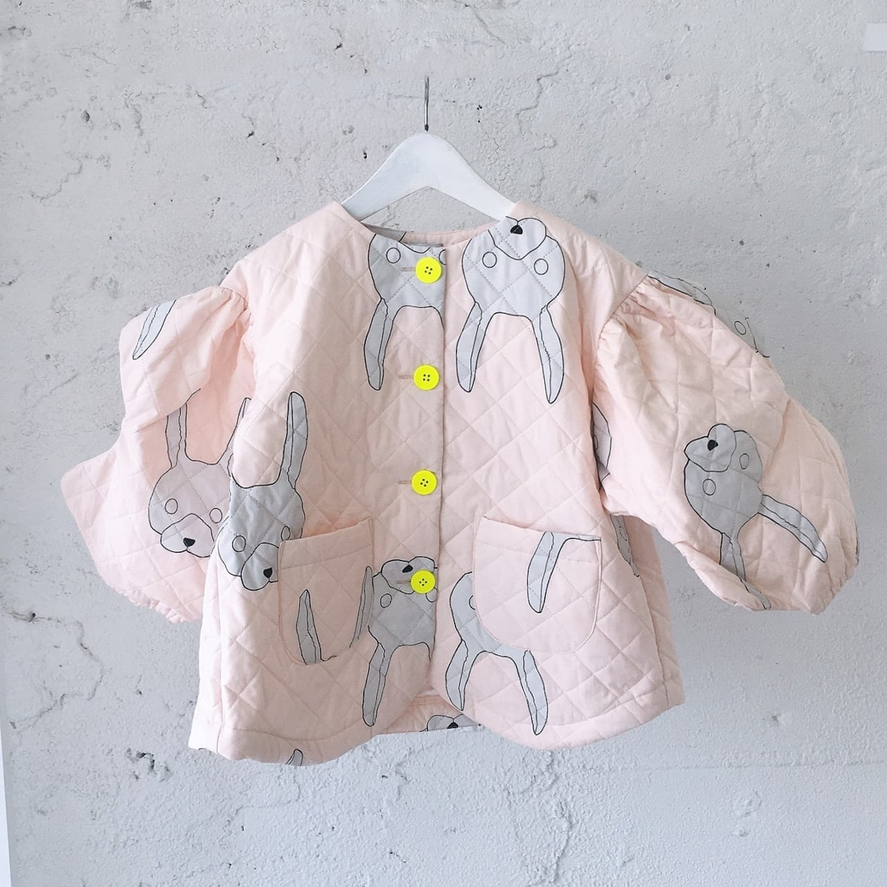 WAVE CUT SLEEVES QUILTING JACKET / L