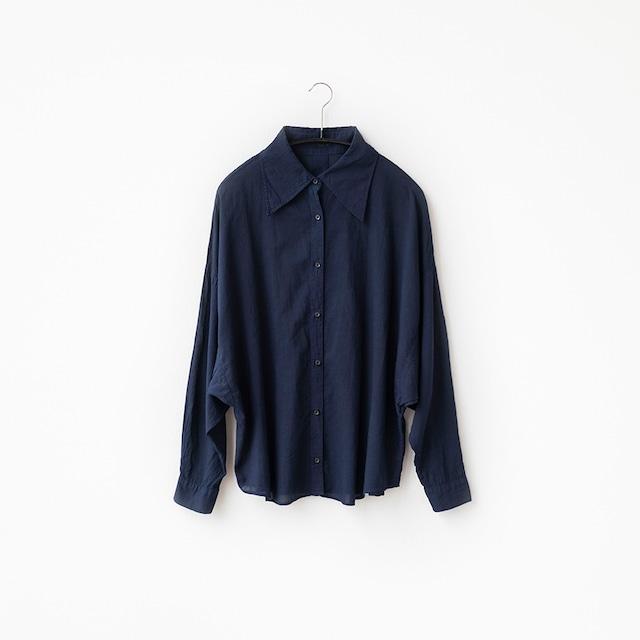 コットンローン ドルマンシャツ(別注カラー:濃藍)