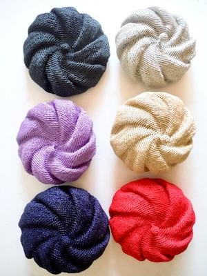 <受注制作>春夏用渦巻きベレー帽 サイズも選べるベレー帽