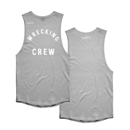LIVE FIT Wrecking Crew Tank - Heather Grey