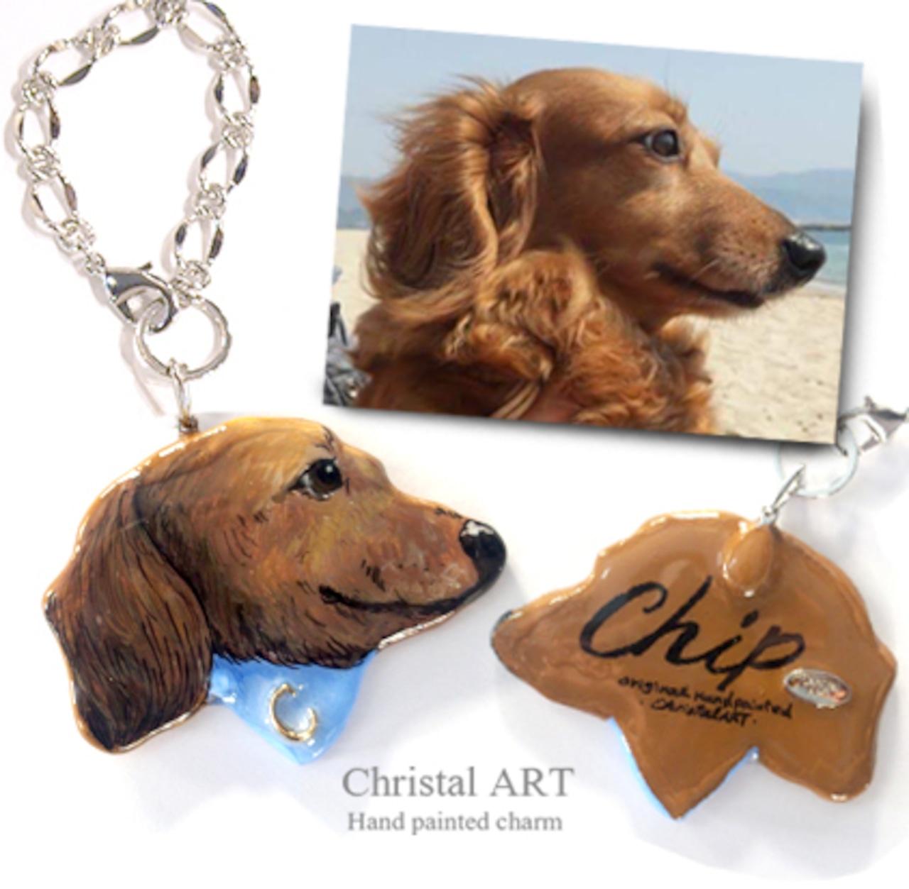 ◆手描き似顔絵チャーム◆お写真を元に手描きの似顔絵チャームを製作致します