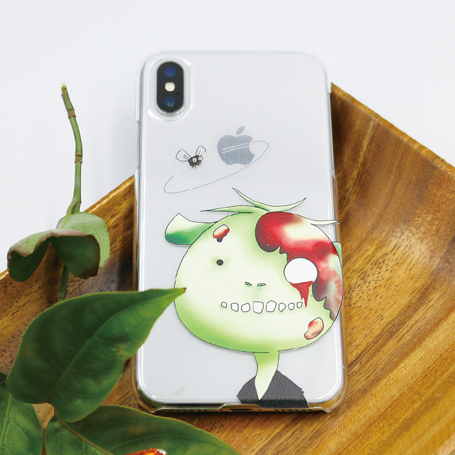 ゾンビとカメ 顔アップ スマホケース(iPhone8用)