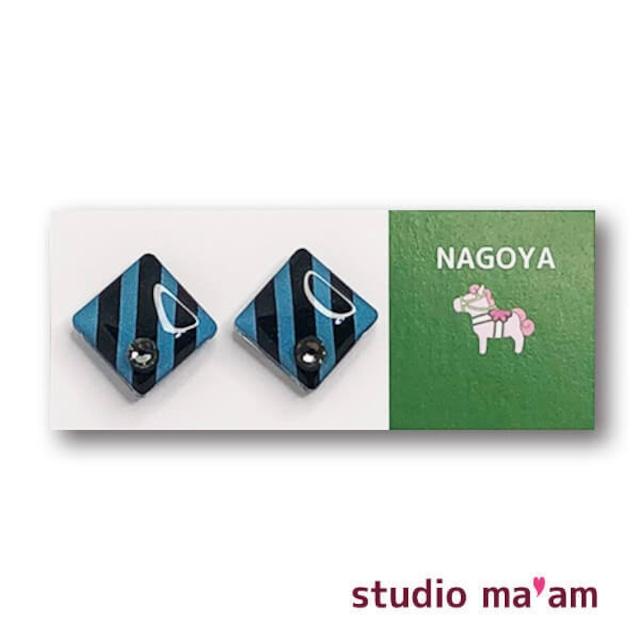 ■NAGOYA-21 ピアス。しかく。〜イヤリング変更可〜