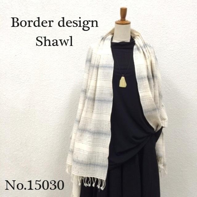 ボーダー風ショール No15030