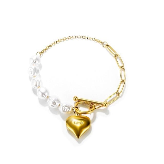 Heart Toggled Bracelet