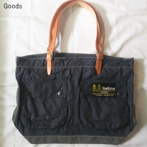 yoused バブアーリメイクトートバッグ L Barbour Remake Tote Bag (NAVY)