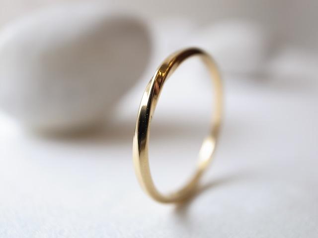 K18YG/twist ring
