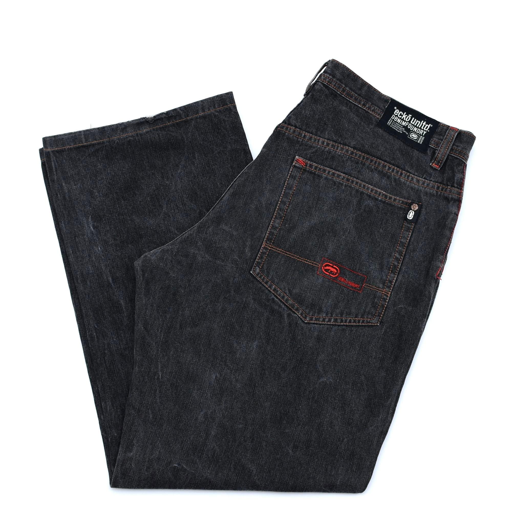 Ecko unltd black denim baggy pants