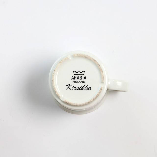 ARABIA アラビア Kirsikka キルシッカ コーヒーカップ&ソーサー、プレート三点セット - 10 北欧ヴィンテージ