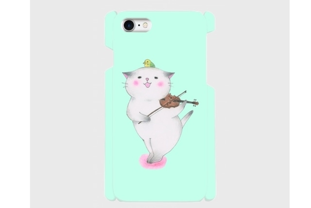 (iPhone用)バイオリン猫のスマホケース