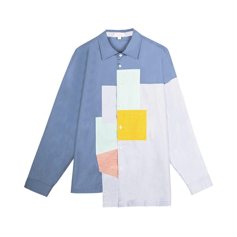 【bosie】パッチワークシャツ