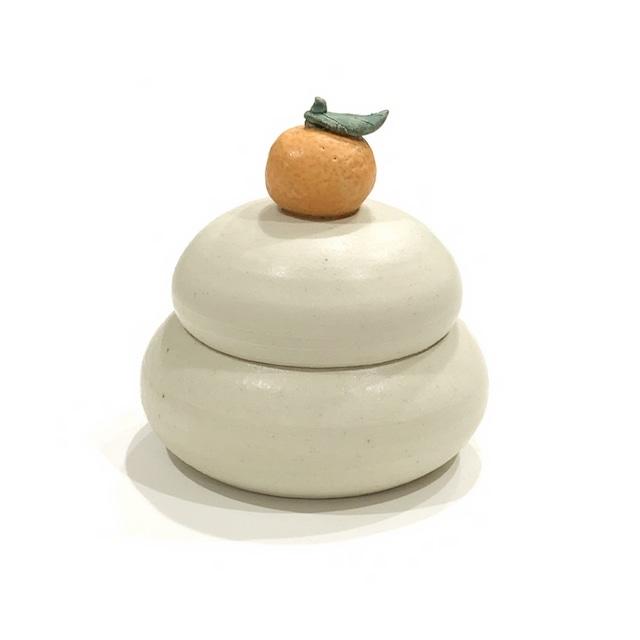 【ご予約商品】鏡餅 橙  蓋物[八木下裕]