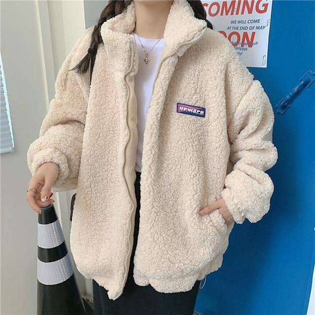 【アウター】大人可愛い!ファッション 韓国系 無地 スエード ショート丈 長袖 スタンドネック ジャケット53313904