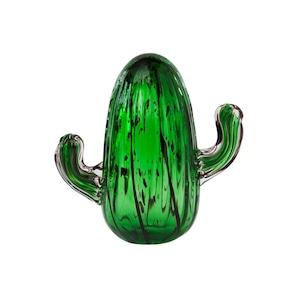 amabro (アマブロ)  CACTUS GLASS ORNAMENT (サボテンの置物) オブジェ 【Pillar(S)】