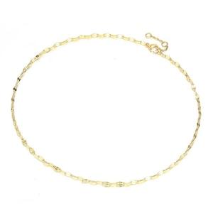 Lip-Shape-Chain-Link Necklace【GOLD】
