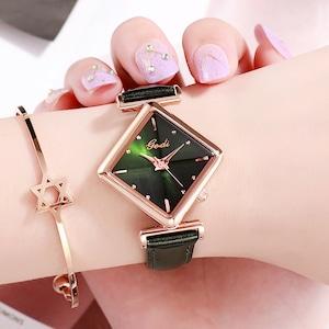超人気商品 高級感 合わせやすい シンプル レザーベルト レディース 腕時計 <ins-2080>