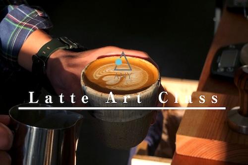 ラテアートクラス。上達!!上質なミルクと美しいアート。