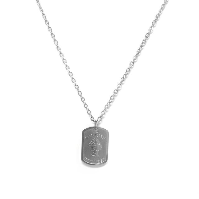 Elizabeth Plate Necklace【SILVER】