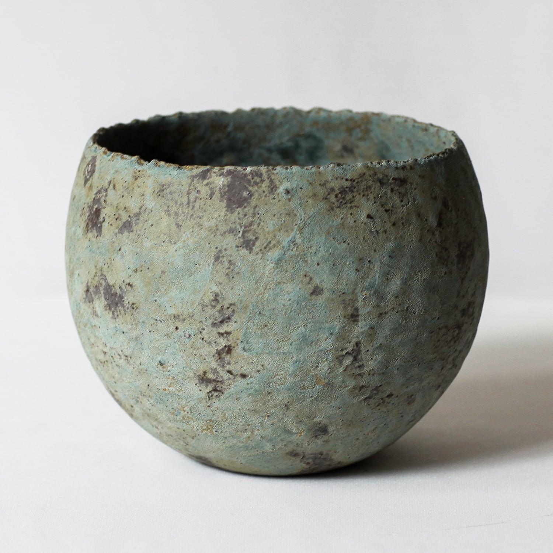ボウル型植木鉢 (青錆) ※LARGE
