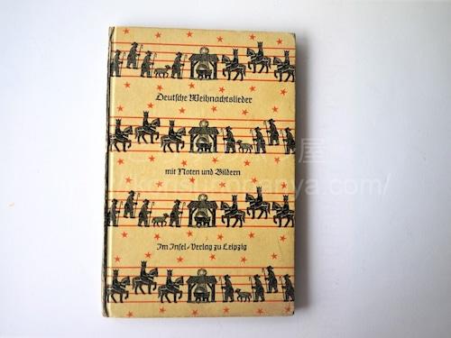 インゼル文庫 クリスマスキャロル 楽譜と挿絵 ドイツ洋書 ひげ文字
