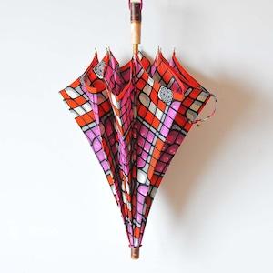 Bon Bon Store アフリカンバティック長傘(桜 006)