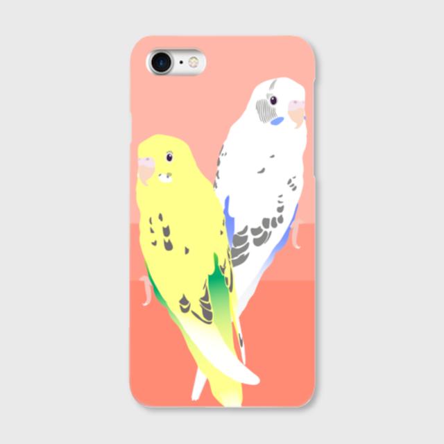 iPhoneケース セキセイインコ 黄ハルクイン白ハルクイン【各機種対応】