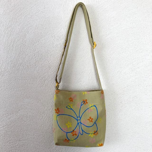 シルクスクリーンs-bag「蝶と花」s-5