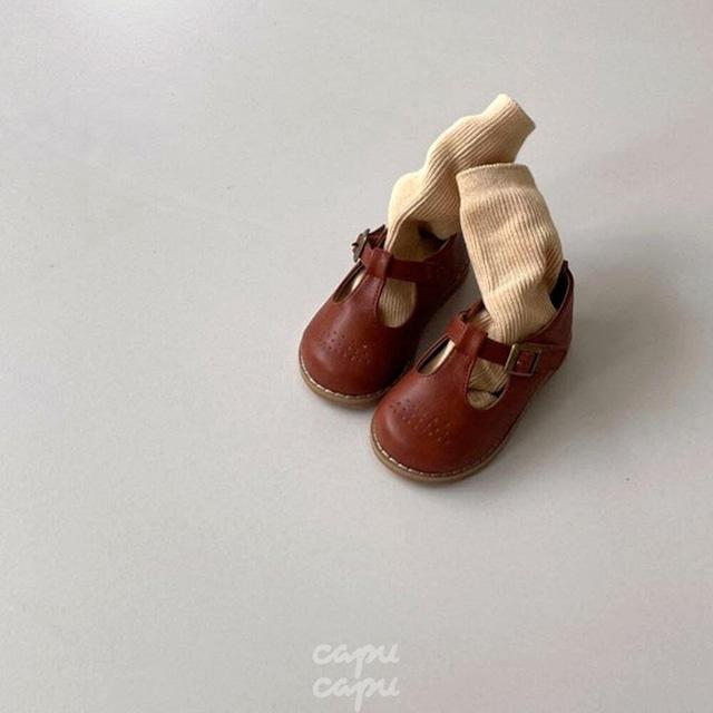 «予約» Classic T strap shoes 3colors 子供靴 キッズシューズ