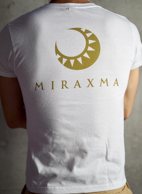 【限定モデル】半袖/ホワイト/背中ゴールド   MIRAXMA-ミライイマ-