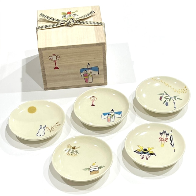 【ご予約商品】四季歳時期 3寸小皿《陶泉窯》