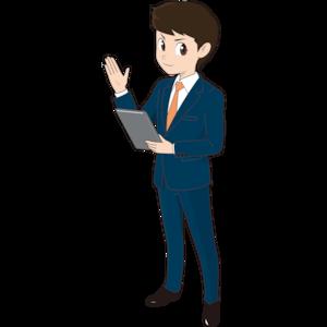 タブレットを持つ若い男性ビジネスマン