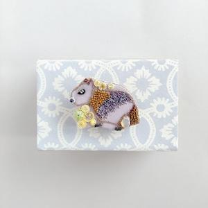 カピバラブローチ(柚子付き)