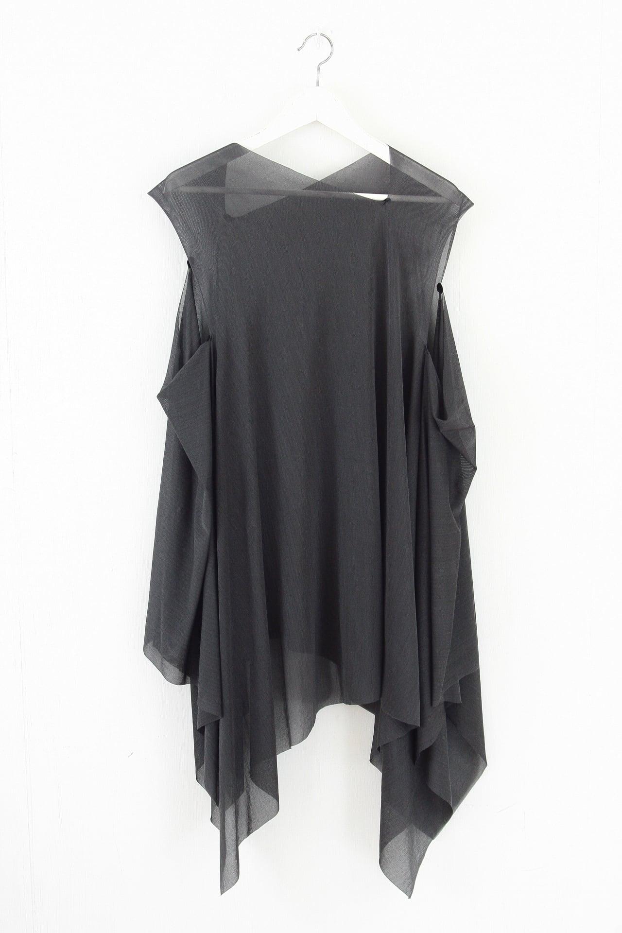[着るストール]RESORT DRESS/STOLE  GRAY 2322 SILK
